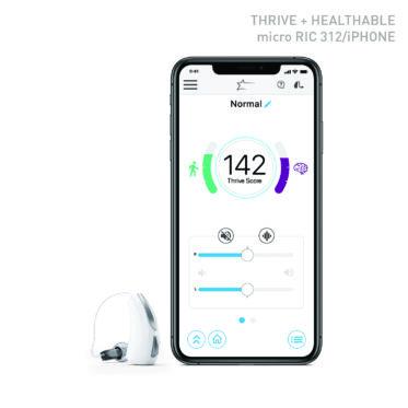 Audibel Thrive App i aparat słuchowy typu RIC